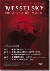 "DIE HERREN WESSELSKY – ""Wessels in the Sky Tournee 2014"""