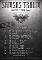 TOUR-VERLEGUNG: SAMSAS TRAUM – POESIE TOUR 2015
