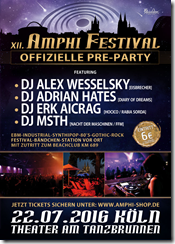 AMPHI FESTIVAL 2016 – OFFIZIELLE PRE-PARTY @ THEATER AM TANZBRUNNEN