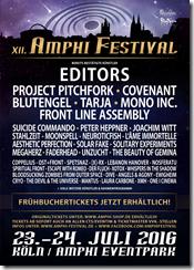 AMPHI FESTIVAL 2016 mit Mono Inc. & L´Ame Immortelle und weiteren Bands